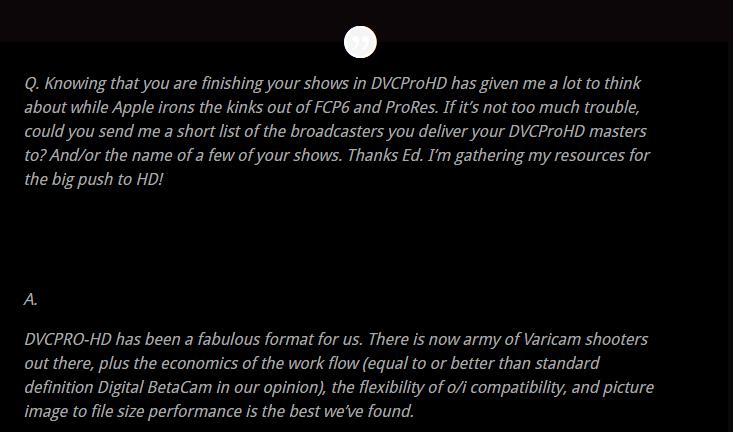DVCPRO-HD